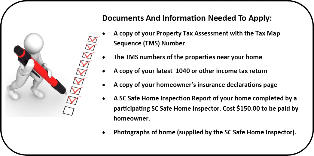 Documents And Information Needed To Apply for SC Safe Home Grant