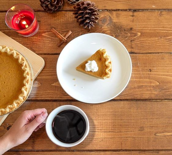 Pumpkin Pie and coffee
