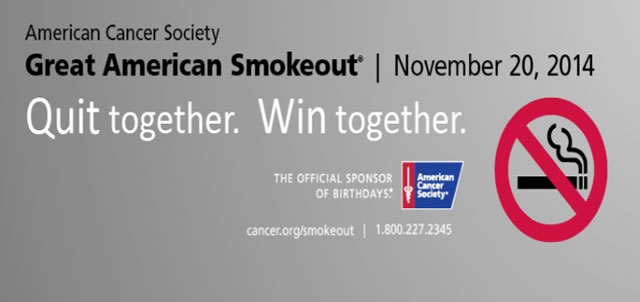 Great American Smokeout 2014 graphic